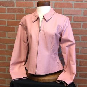 EDGE women's pink leather jacket size L